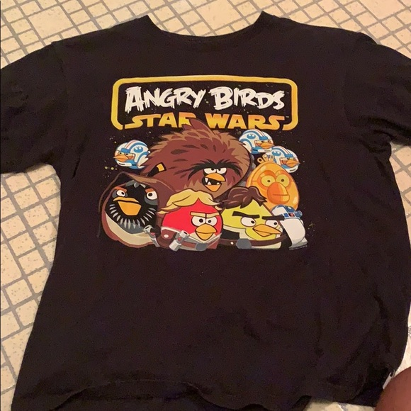 New Angry Birds Star Wars youth boys long sleeved t-shirt size L